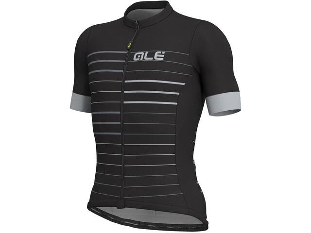Alé Cycling Solid Ergo Kortærmet cykeltrøje Herrer grå/sort